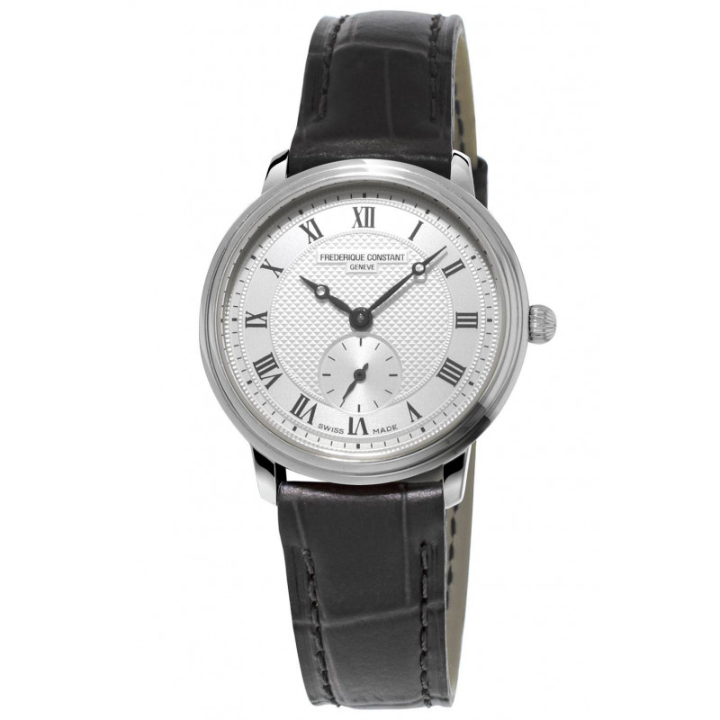 Frédérique Constant Slimline 28.6 mm Ladies Watch Steel & Leather Strap FC-235M1S6