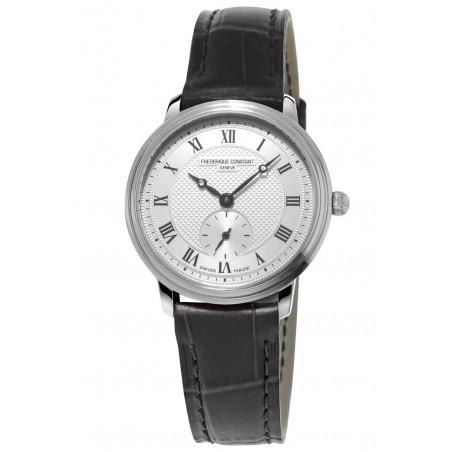 Frédérique Constant Slimline 28.6 mm Ladies Watch Steel & Leather Strap FC-235M1S6