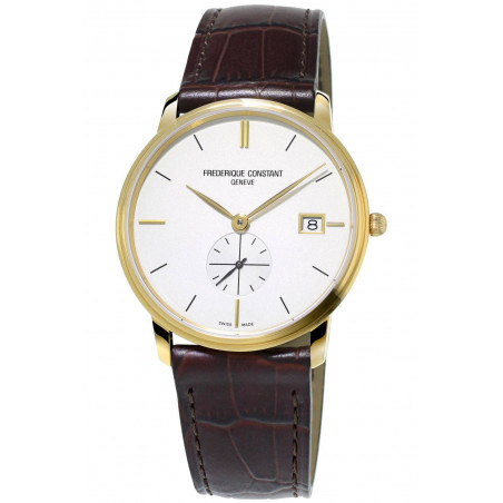 Frédérique Constant Slimline 37mm small second gold PVD FC-245V4S5
