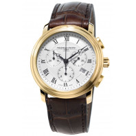 Frédérique Constant - Classic Quartz 40 mm Chronograph Gold PVD Leather Strap FC-292MC4P5