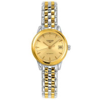 Longines Flagship 26mm golden dial, steel& gold PVD bracelet L42743327