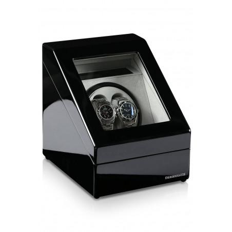 Watch Winder Designhutte Monaco Black for two watches