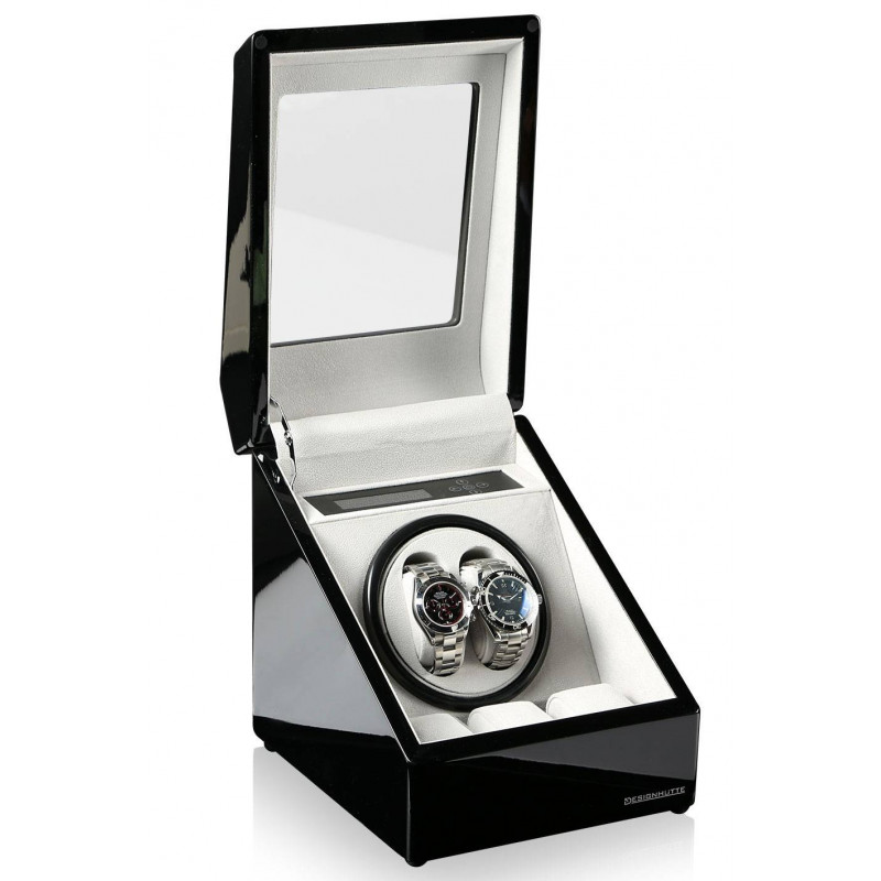 Watch Winder Designhutte Monaco Black for two watches