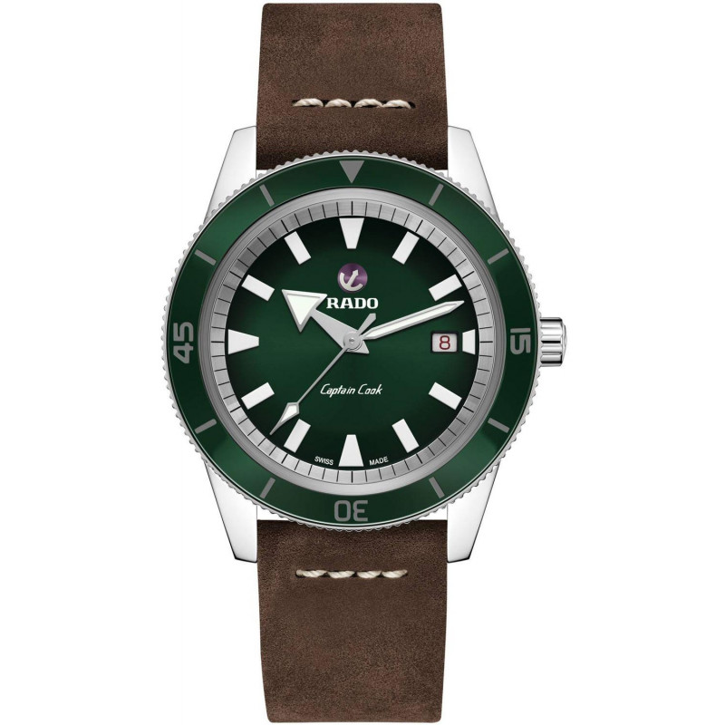 Rado - Captain Cook Automatic Green & Leather strap R32505315