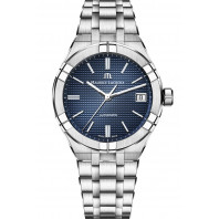 Maurice Lacroix - AIKON Automatic 39mm Blue & Steel Men's Watch AI6007-SS002-430-1