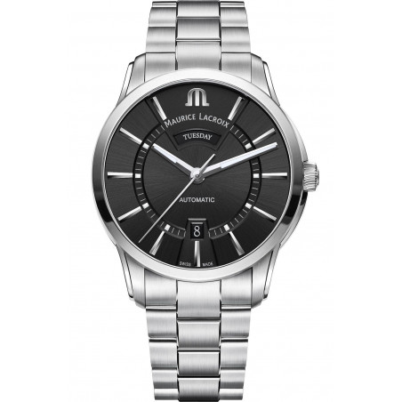 Maurice Lacroix - Pontos Day Date Automatic Black & Steel 41mm PT6358-SS002-330-1