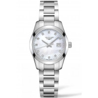 Longines - Conquest Classic 29.5mm Mother of Pearl & Diamonds L22864876