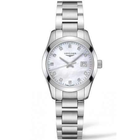 Longines - Conquest Classic 29.5mm Mother-of-pearls & Diamonds L22864876