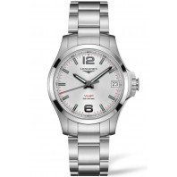 Longines - Conquest V.H.P. 36mm Silver & Stål L33164766