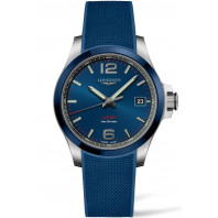 Longines - Conquest V.H.P. 41mm Blue Ceramic & Rubber strap L37194969