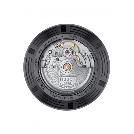 Tissot Seastar 1000 Powermatic 80 Black PVD & Rubber Strap T1204073705100