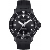 Tissot Seastar 1000 Powermatic 80 Black PVD & Rubber Strap T1204073705100