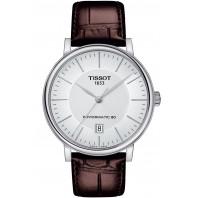 Tissot - Carson Premium Powermatic 80 Silver & Läderband T1224071603100
