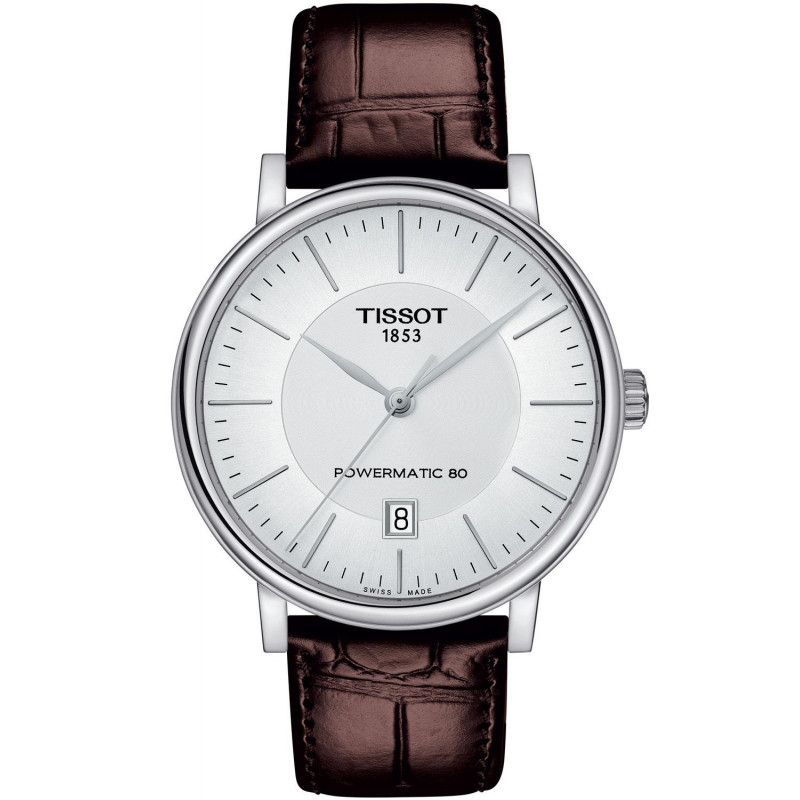 Tissot - Carson Premium Powermatic 80 Silver & Leather strap T1224071603100