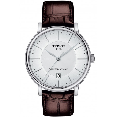 Tissot - Carson Premium Powermatic 80 Silver & Leather strap T1224071603100