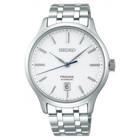 Seiko - Presage Automatic White & Bracelet 42mm SRPD39J1
