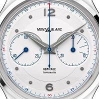 Montblanc Heritage Automatisk Monopusher Kronograf Vit & Alligator 119951