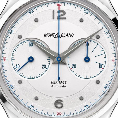 Montblanc - Heritage Monopusher Chronograph White & Alligator Strap 119951