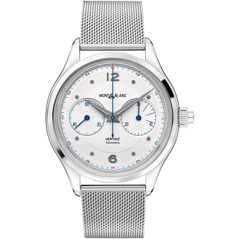 Montblanc - Heritage Monopusher Chronograph White & Bracelet 119952