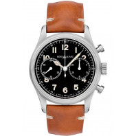 Montblanc - 1858 Automatic Chronograph 42mm Black & Leather strap 117836