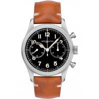 Montblanc - 1858 Automatisk Kronograf 42mm Svart & Läderband 117836