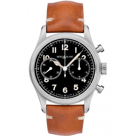 Montblanc - 1858 Automatic Chronograph 42mm Black & Leather strap 117836