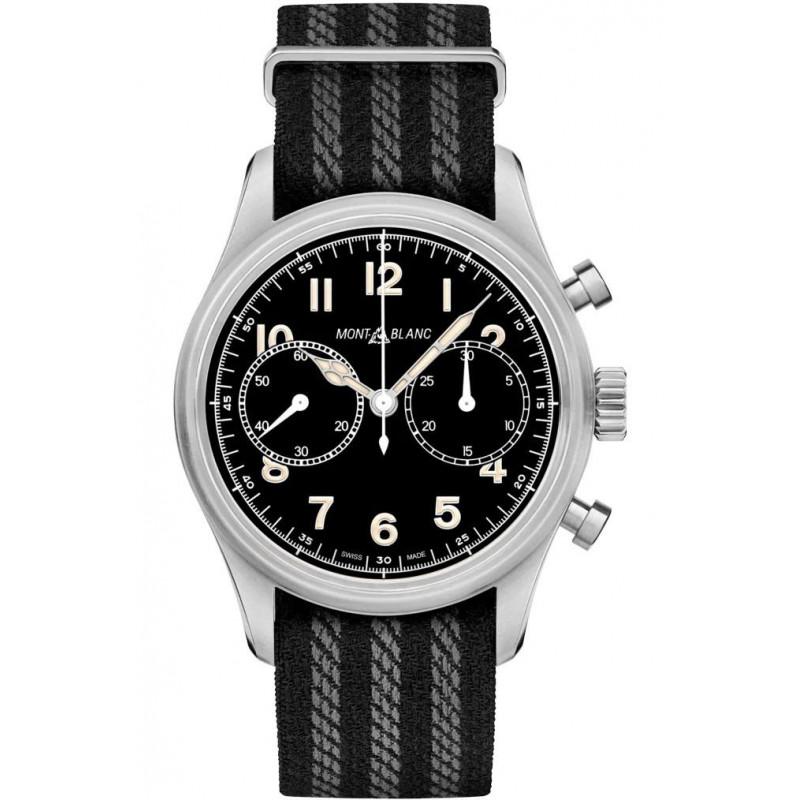 Montblanc - 1858 Automatic Chronograph 42mm Black & Textile strap 117835