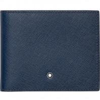 Montblanc - Meisterstück Sartorial Blå Läder Plånbok - 6 fickor 113217
