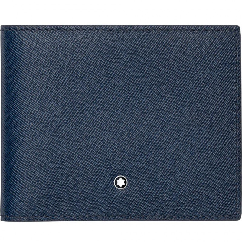 Montblanc - Meisterstück Sartorial Blue Leather Wallet - 6 Pockets 113217