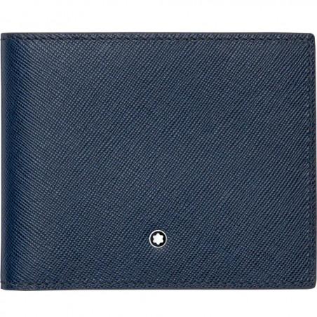 Montblanc - Meisterstück Sartorial Blue Leather Wallet - 6 Pockets 113217