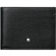 Montblanc - Meisterstück Soft Grain Black Wallet - 6 Pockets 113305