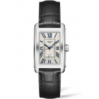 Longines - DolceVita Silver Flinque & Svart Alligator 27,7 x 43,8mm - L57574710