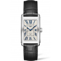 Longines - DolceVita Silver Flinque & Svart Alligator 28,2 x 47mm - L57674710
