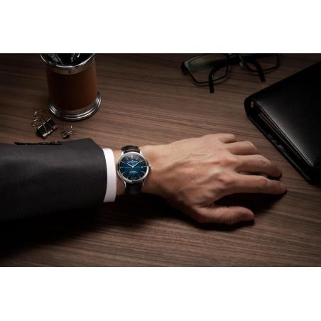 Baume & Mercier Clifton COSC Baumatic Blå & Läderband - M0A10467