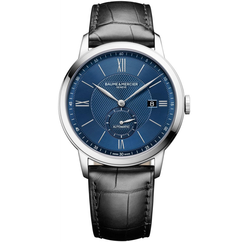 Baume & Mercier Classima Automatic Small Second Blue & Leather Strap - M0A10480