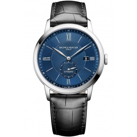 Baume & Mercier Classima Automatic Small Second Blue & Leather Strap - M0A10480