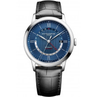 Baume & Mercier Classima Automatic GMT Blue & Leather Strap - M0A10482