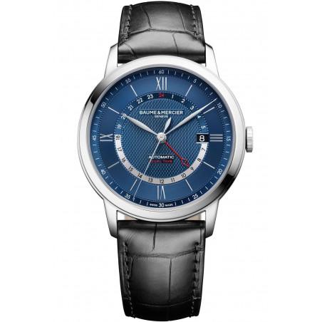 Baume & Mercier Classima Automatic GMT Blue & Leather Strap - M0A10482
