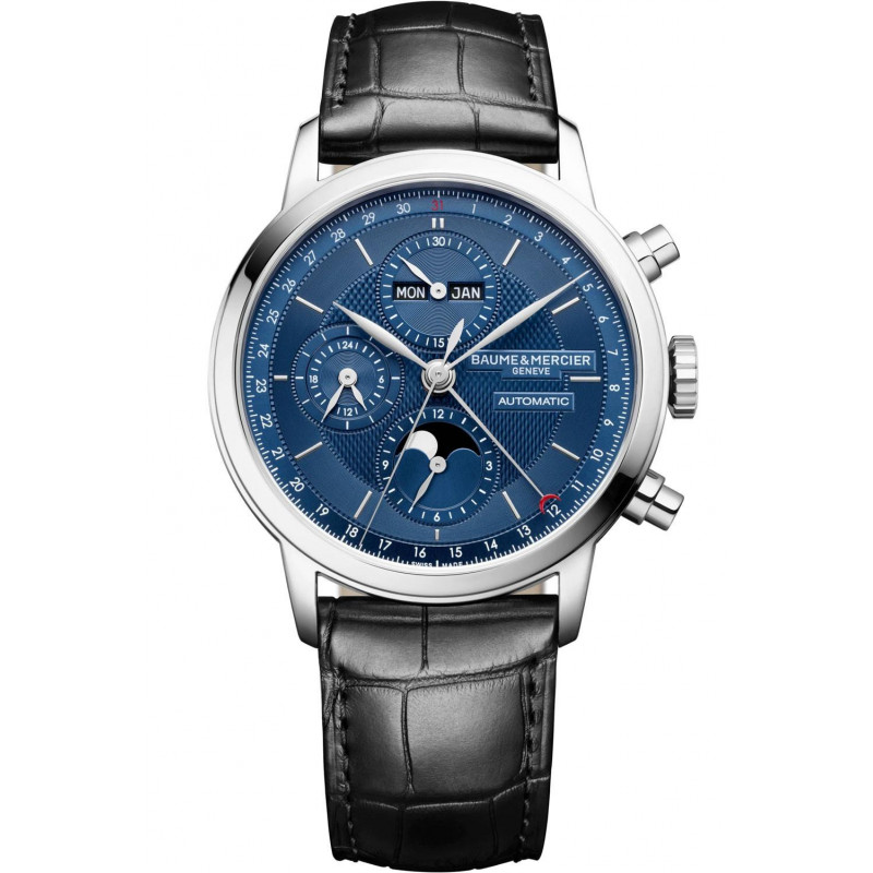 Baume & Mercier Classima Automatic Chronograph & Calendar Blue & Leather Strap - M0A10484