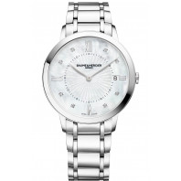 Baume & Mercier - Classima 36.5mm Kvarts Diamanter & Stållänk - M0A10225