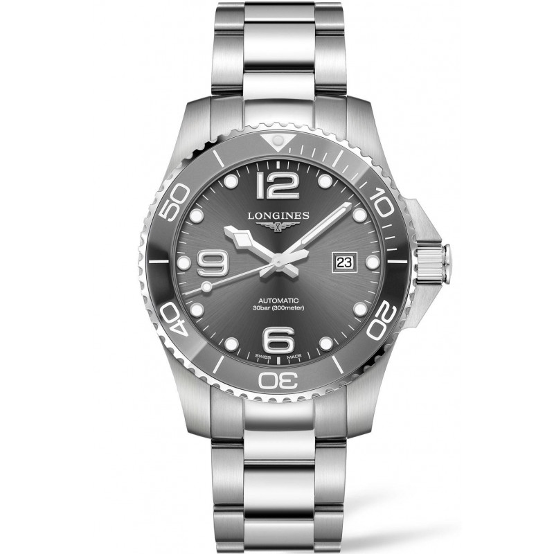 Longines - HydroConquest 43mm Grey Ceramic & Steel - L37824766