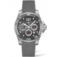 Longines - HydroConquest Chronograph Grey Ceramic & Rubber 43mm - L38834769