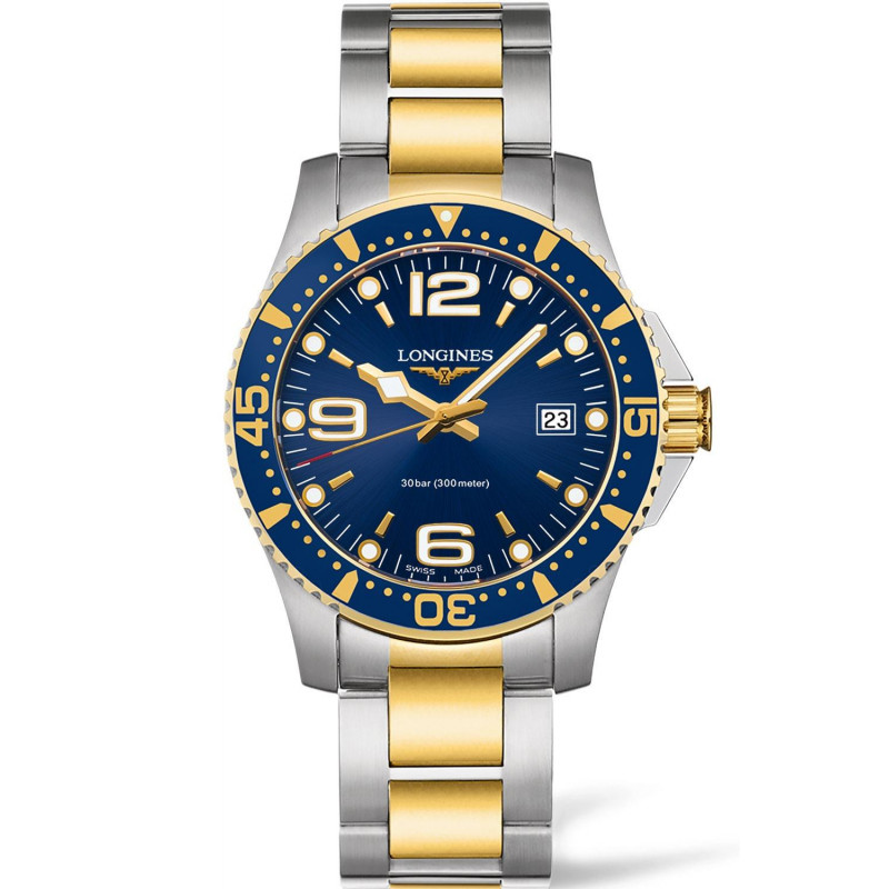 Longines - HydroConquest 41mm Blue Steel & Gold PVD - L37403967