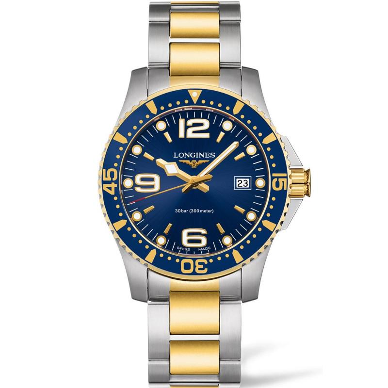 Longines - HydroConquest 41mm Blue Steel & Gold PVD L37403967