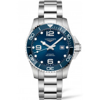 Longines - HydroConquest 43mm Blue Ceramic & Steel Bracelet L37824966