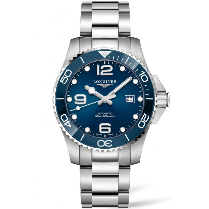 Longines - HydroConquest 43mm Blue Ceramic & Steel - L37824966