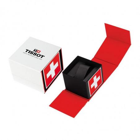 Tissot - Luxury Automatic Silver & Läderband - T0864071603100