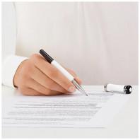 Montblanc - Bonheur White & Black Rollerball Pen 114832