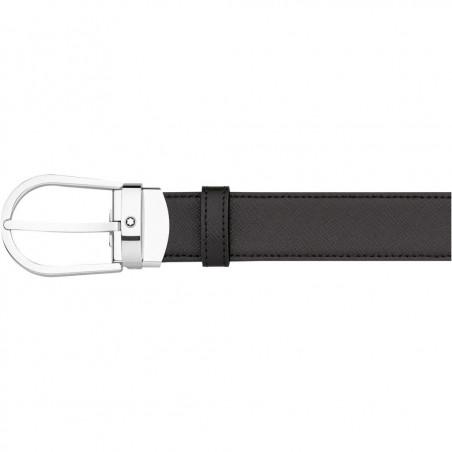Montblanc - Meisterstück Horseshoe Black/Brown Saffiano Leather Belt 113834