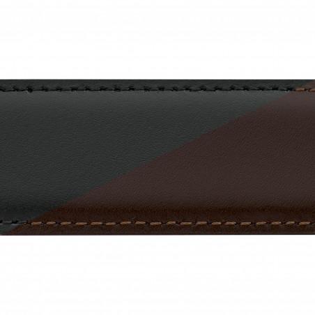Montblanc - Meisterstück Square Black/Brown Leather Belt 109738